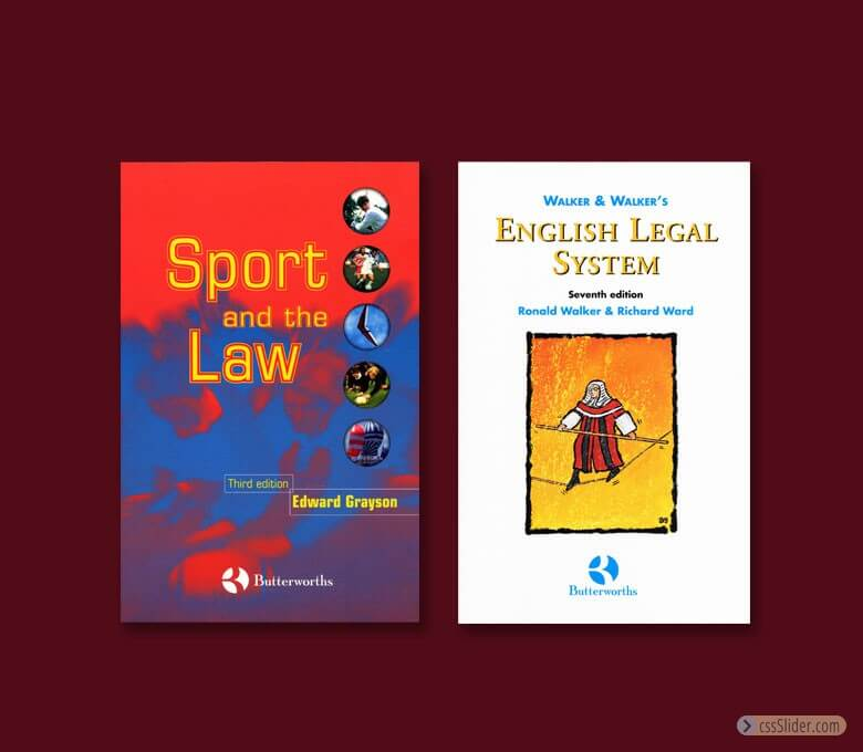 Two law book jackets